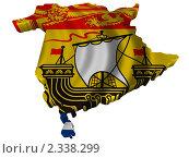 Купить «Национальный флаг в форме провинции Канады Нью-Брансуик», иллюстрация № 2338299 (c) Савельев Андрей / Фотобанк Лори