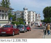 Улица морского курорта Альбек (Ahlbeck) в Германии (2009 год). Редакционное фото, фотограф Евгения Нижегородцева / Фотобанк Лори
