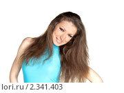 Купить «Портрет улыбающейся брюнетки», фото № 2341403, снято 12 февраля 2011 г. (c) Черников Роман / Фотобанк Лори