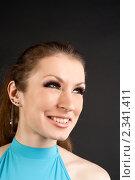 Купить «Девушка с длинными ресницами», фото № 2341411, снято 12 февраля 2011 г. (c) Черников Роман / Фотобанк Лори