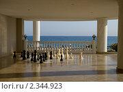 Шахматы на террасе у моря. Стоковое фото, фотограф Svetlana Yudina / Фотобанк Лори