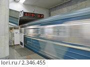 Купить «Въезд в тоннель. Метро», эксклюзивное фото № 2346455, снято 13 июля 2010 г. (c) Алёшина Оксана / Фотобанк Лори