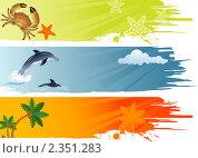 Купить «Летние баннеры», иллюстрация № 2351283 (c) Алексей Тельнов / Фотобанк Лори