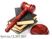 Купить «Стопка книг и молоток судьи», фото № 2357807, снято 27 мая 2020 г. (c) Юдин Владимир / Фотобанк Лори