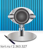 Ретромикрофон и карандаш. Стоковая иллюстрация, иллюстратор Mihhail Fainstein / Фотобанк Лори