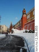 Купить «Москва. Александровский сад. Башни Кремля», эксклюзивное фото № 2366855, снято 20 февраля 2011 г. (c) lana1501 / Фотобанк Лори
