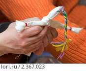 Купить «Изготовление куклы Веснянки», фото № 2367023, снято 24 февраля 2011 г. (c) Сергей Лаврентьев / Фотобанк Лори