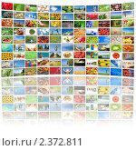 Купить «Много экранов телевизоров с различными фотографиями», фото № 2372811, снято 17 января 2020 г. (c) Воронин Владимир Сергеевич / Фотобанк Лори