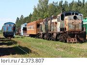 Купить «Старая железнодорожная техника», фото № 2373807, снято 21 июля 2010 г. (c) Юрий Акимов / Фотобанк Лори