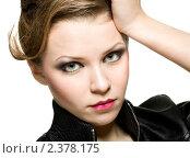 Красивая девушка с чистой кожей. Стоковое фото, фотограф Сергей Коршенюк / Фотобанк Лори