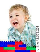 Маленький мальчик кричит. Стоковое фото, фотограф Сергей Коршенюк / Фотобанк Лори