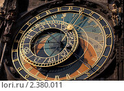 Знаменитые старинные часы на ратуше в Праге (2011 год). Стоковое фото, фотограф Архипова Мария / Фотобанк Лори