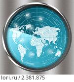 Радар в процессе сканирования. Стоковая иллюстрация, иллюстратор Игнатьева Алевтина / Фотобанк Лори