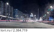 Москва. Проспект Маршала Жукова. Ночной вид. Стоковое фото, фотограф Сергей Соболев / Фотобанк Лори