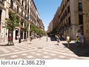 Купить «Пешеходная улица Мадрида», фото № 2386239, снято 24 июня 2009 г. (c) Elena Monakhova / Фотобанк Лори
