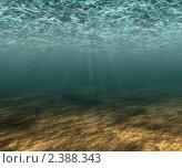 Фон, подводное освещение. Стоковая иллюстрация, иллюстратор Игнатьева Алевтина / Фотобанк Лори