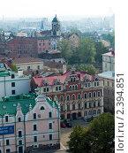 Выборг с высоты башни Олафа (2010 год). Редакционное фото, фотограф Алексей Измайлов / Фотобанк Лори