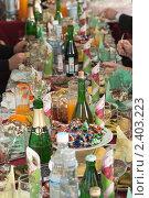 Купить «Праздничное застолье», фото № 2403223, снято 25 февраля 2011 г. (c) Королевский Василий Федорович / Фотобанк Лори