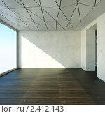 Купить «Интерьер пустой комнаты», иллюстрация № 2412143 (c) Юрий Бельмесов / Фотобанк Лори
