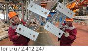 Купить «Рабочие на заводе», фото № 2412247, снято 10 марта 2011 г. (c) Виктор Филиппович Погонцев / Фотобанк Лори