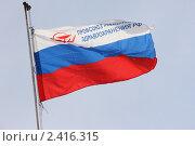 Купить «Флаг профсоюза медиков», фото № 2416315, снято 19 марта 2011 г. (c) Zemlyanski Alexei / Фотобанк Лори