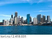 Купить «Вид на центральный деловой район Сиднея», фото № 2418031, снято 17 августа 2010 г. (c) Elena Monakhova / Фотобанк Лори