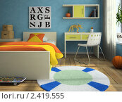Купить «Интерьер современной детской комнаты», иллюстрация № 2419555 (c) Hemul / Фотобанк Лори