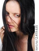 Девушка с развевающимися волосами. Стоковое фото, фотограф Дарья Столярова / Фотобанк Лори