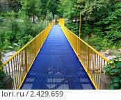 Мост для туристов. Стоковое фото, фотограф Валерий Шевяков / Фотобанк Лори