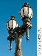 Купить «Фрагмент фонаря на мосту Принсес-бридж в Мельбурне», фото № 2429715, снято 2 августа 2010 г. (c) Elena Monakhova / Фотобанк Лори