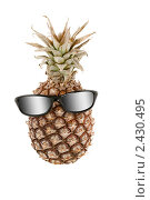 Купить «Ананас и очки в антропоморфной композиции, похожие на человеческую голову», фото № 2430495, снято 23 ноября 2019 г. (c) AlphaBravo / Фотобанк Лори