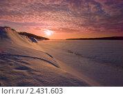 Закат на реке. Стоковое фото, фотограф Владимир Любимов / Фотобанк Лори