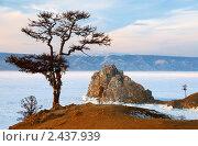 Купить «Скала Шаманка, озеро Байкал», фото № 2437939, снято 8 марта 2011 г. (c) Некрасов Андрей / Фотобанк Лори