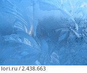 Купить «Ледяные узоры на стекле», фото № 2438663, снято 1 февраля 2006 г. (c) Dina / Фотобанк Лори