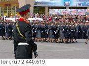 Курсант на параде 9 мая 2010 года в Ханты-Мансийске. Редакционное фото, фотограф Александр Овчаров / Фотобанк Лори