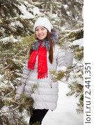 Купить «Портрет девушки зимой», фото № 2441351, снято 27 января 2011 г. (c) Яков Филимонов / Фотобанк Лори