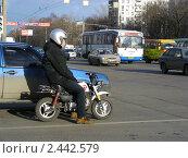 Купить «Москва. Транспорт на Щелковском шоссе», эксклюзивное фото № 2442579, снято 27 марта 2011 г. (c) lana1501 / Фотобанк Лори