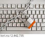 Купить «Клавиатура на замке», фото № 2442735, снято 31 марта 2011 г. (c) Владимир Сергеев / Фотобанк Лори