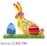 Купить «Пасхальный заяц», иллюстрация № 2442799 (c) Елена Жучкова / Фотобанк Лори