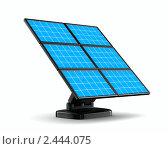 Купить «Солнечная батарея на белом фоне», иллюстрация № 2444075 (c) Ильин Сергей / Фотобанк Лори