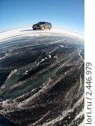 Купить «Машина на льду», фото № 2446979, снято 6 марта 2011 г. (c) Некрасов Андрей / Фотобанк Лори
