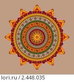 Купить «Индийский орнамент», иллюстрация № 2448035 (c) Инна Грязнова / Фотобанк Лори