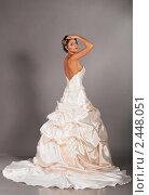 Купить «Невеста в свадебном платье», фото № 2448051, снято 13 апреля 2018 г. (c) Сергей Петерман / Фотобанк Лори