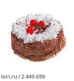 Купить «Торт с  кремом и шоколадной крошкой», фото № 2449699, снято 7 августа 2009 г. (c) ElenArt / Фотобанк Лори