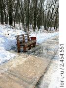 Купить «Весна в парке, снег тает», эксклюзивное фото № 2454551, снято 3 апреля 2011 г. (c) Щеголева Ольга / Фотобанк Лори