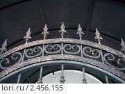 Купить «Декоративная кованая решетка в  Спасо-Преображенском  епархиальном  мужском монастыре», фото № 2456155, снято 20 марта 2011 г. (c) Igor Lijashkov / Фотобанк Лори