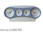 Купить «Часы-метеостанция с рекордно низкими показаниями атмосферного давления», фото № 2459755, снято 9 апреля 2011 г. (c) Алёшина Оксана / Фотобанк Лори