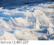 Лед на реке. Стоковое фото, фотограф Алексей Романенко / Фотобанк Лори