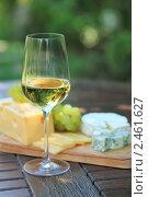 Сыр, вино и виноград. Стоковое фото, фотограф Дарья Петренко / Фотобанк Лори