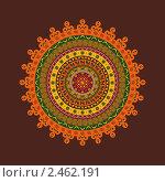 Купить «Индийский орнамент», иллюстрация № 2462191 (c) Инна Грязнова / Фотобанк Лори
